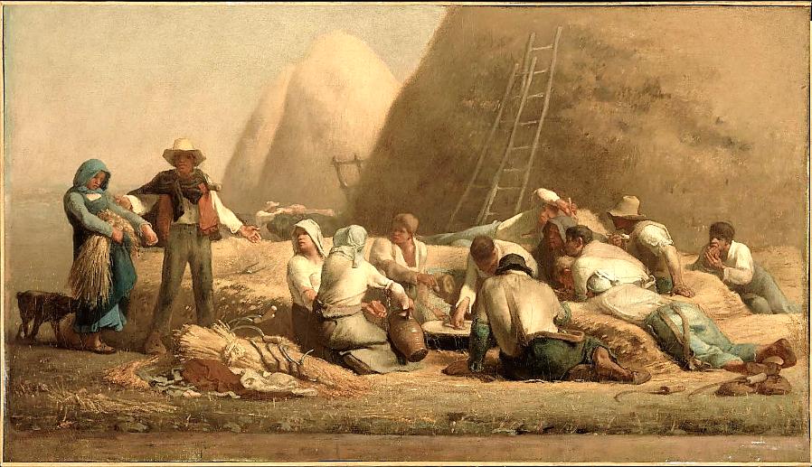 Jean Millet,  Harvesters Resting  (1854)