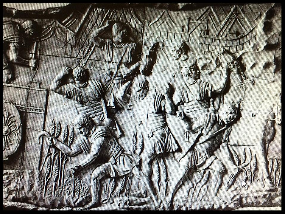 Trajan's Column Harvest Scene (c. 110 AD); Conrad Cichorius, Die Reliefs der Traiansäule (Berlin, 1900)