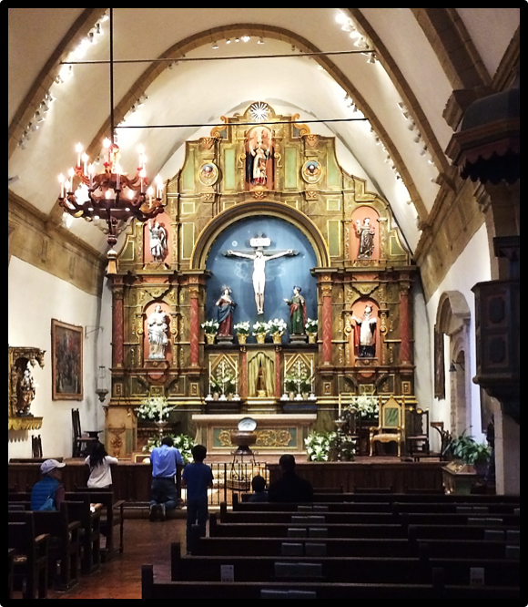 Mission San Juan Carmel Sanctuary (founded 1770); Good Friday, 2017