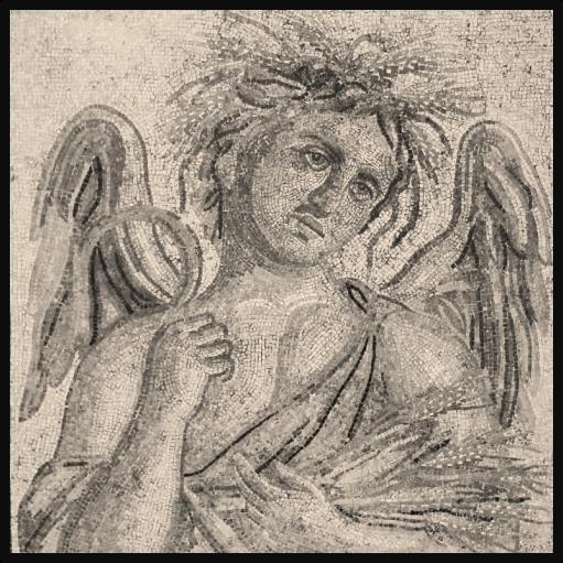 Zliten Allegorical Summer Mosaic (c. 200 AD);  R. Bartoccini,  Guida del Museo di Tripoli  (1923)