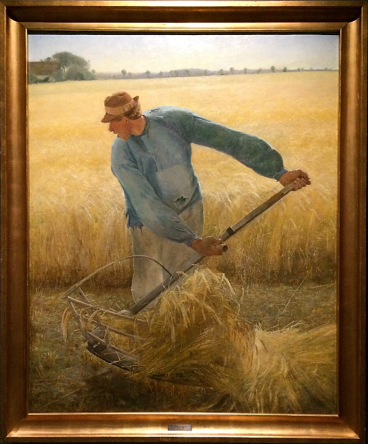 L A. Ring,  The Harvester  (1884),   Oil on canvas, 74 ¾ x 60 ⅗ inches,   National Gallery of Denmark, Copenhagen