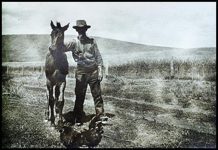 Pioneer Joe Delong and Colt (c. 1900);  Courtesy of Joe and Sara Delong