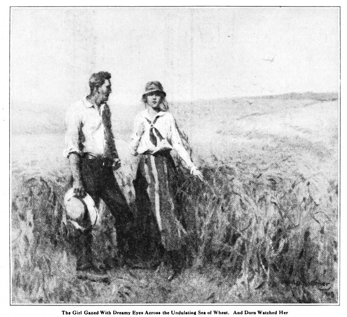 "Right: W. H. D. Koerner, ""The Undulating Sea of Wheat,""  Country Gentleman Magazine  (May 14, 1918)"