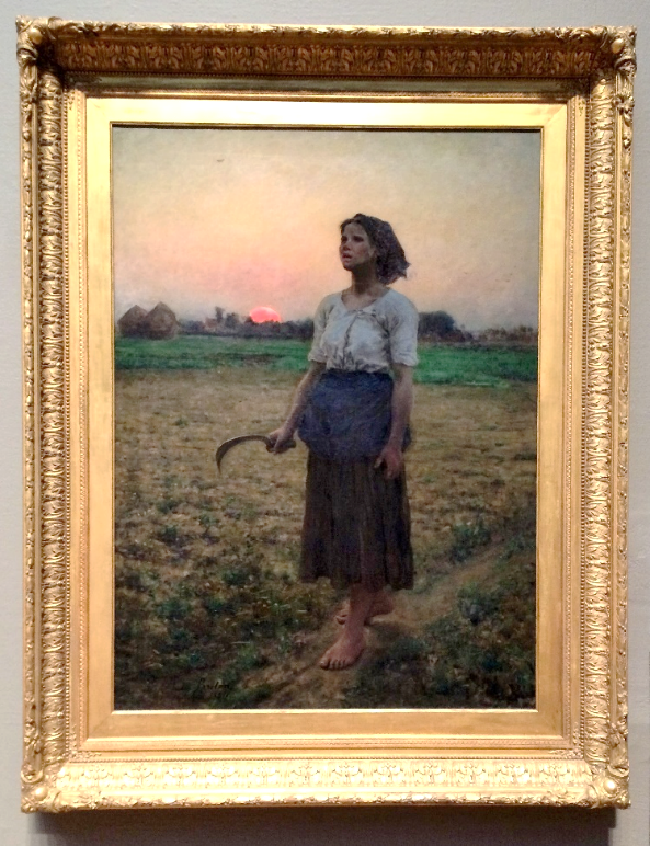 Jules Breton,  Song of the Lark  (1884), Oil on canvas, 43½ by 33¾ inches, Henry Field Memorial Collection, Chicago Art Institute