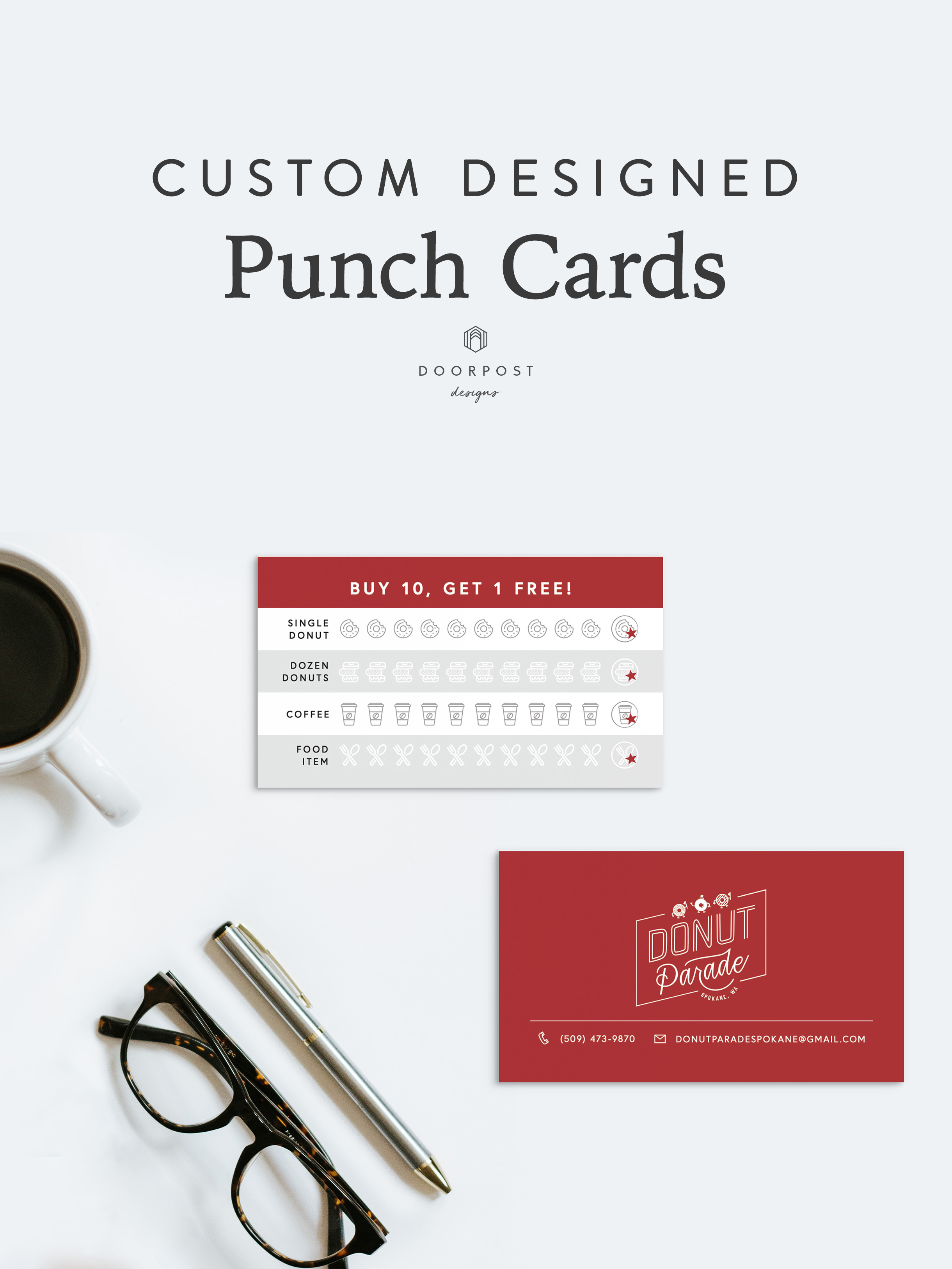 Custom Designed Punch Cards