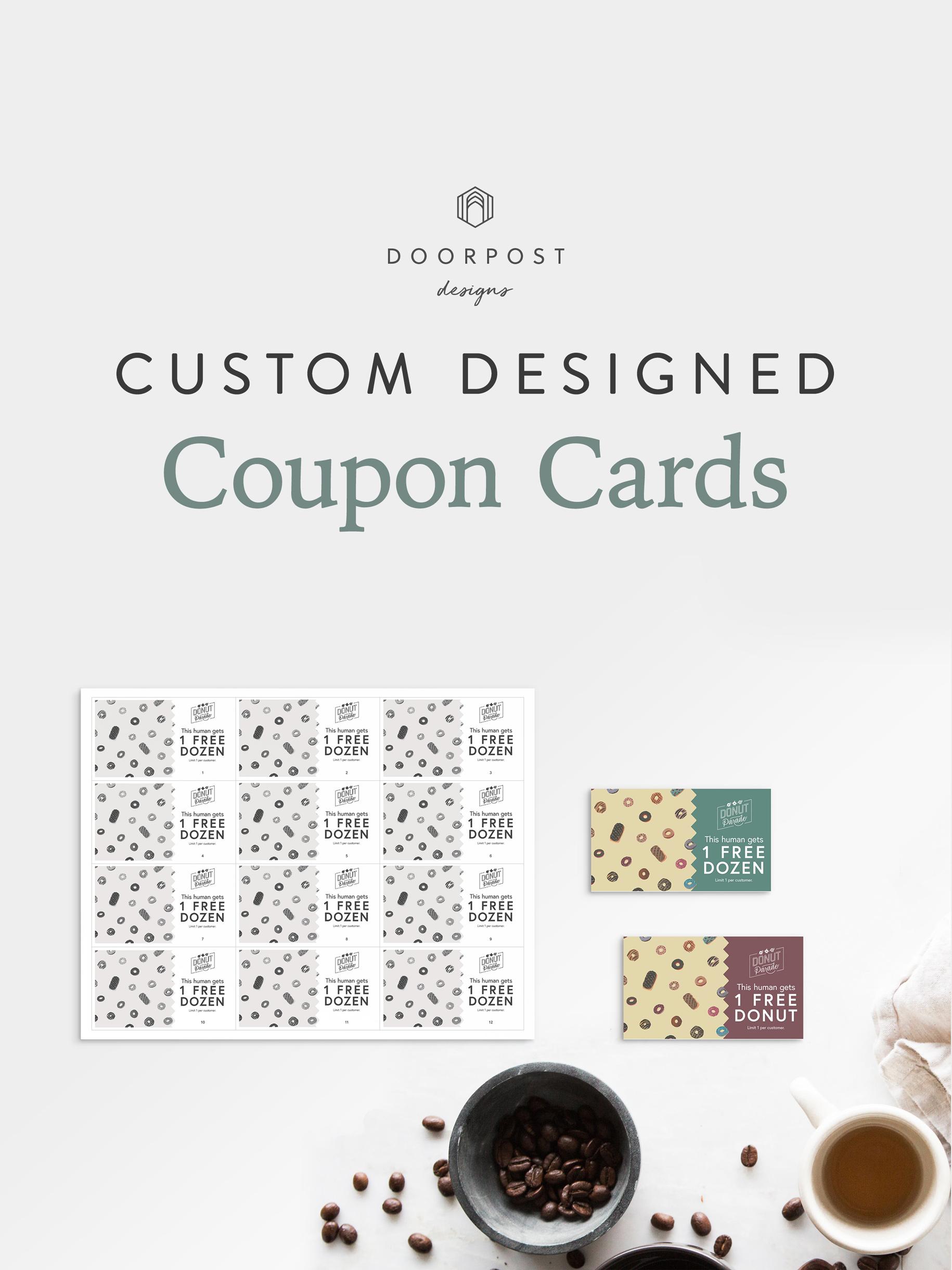 Custom Designed Coupon Cards