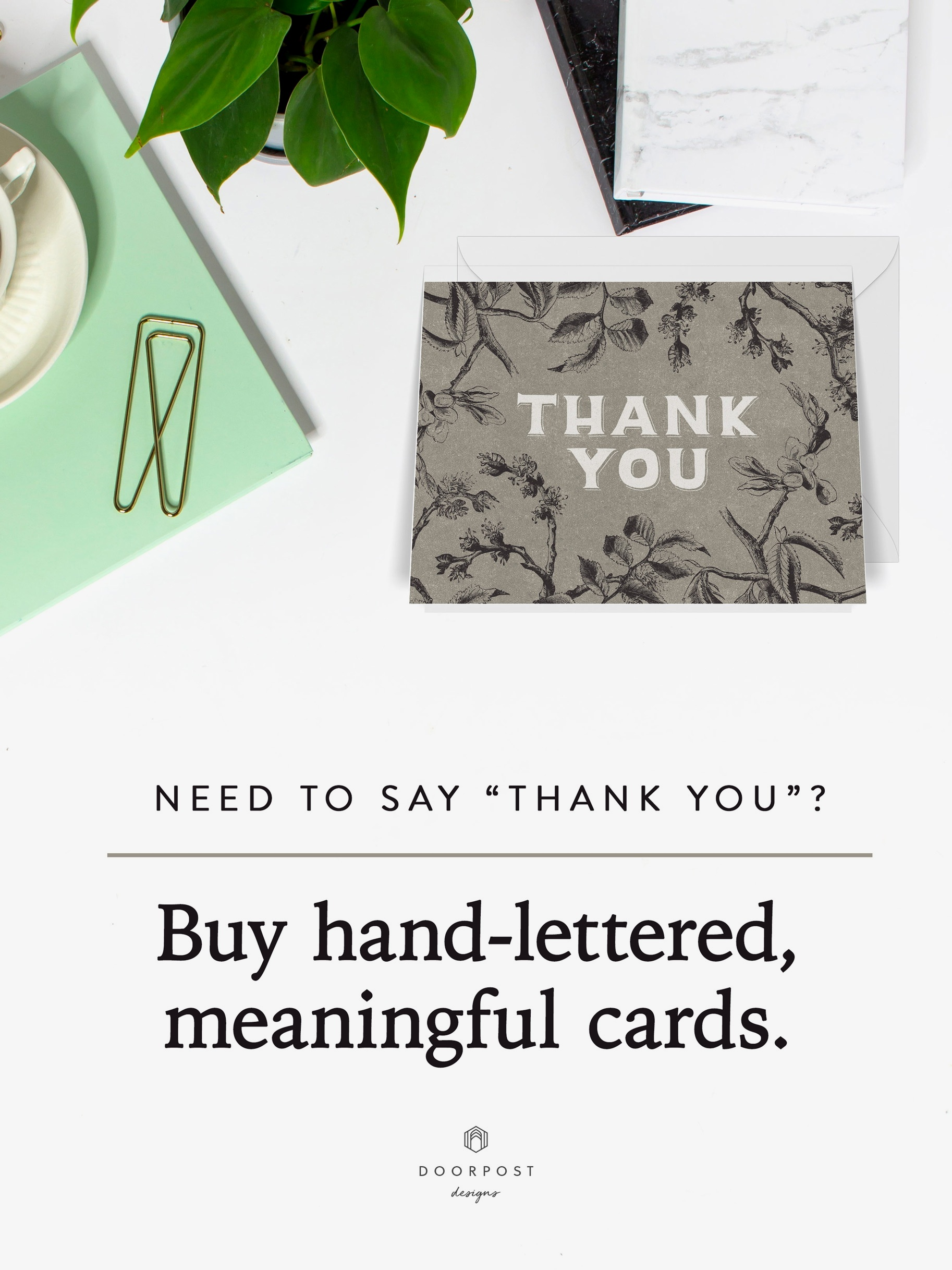 Buy hand-lettered, meaningful cards