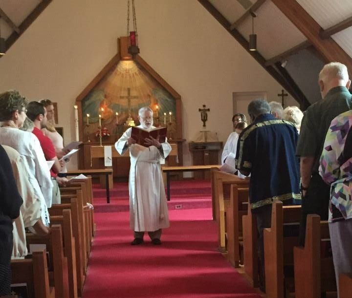 The Deacon proclaims the Gospel during the Holy Eucharist