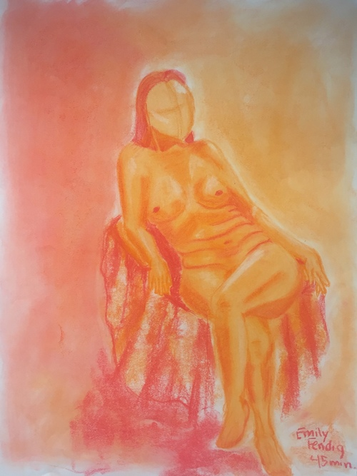 45 min. Figure drawing