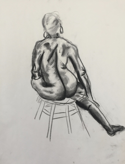 Figure Drawing: 15 min. charcoal