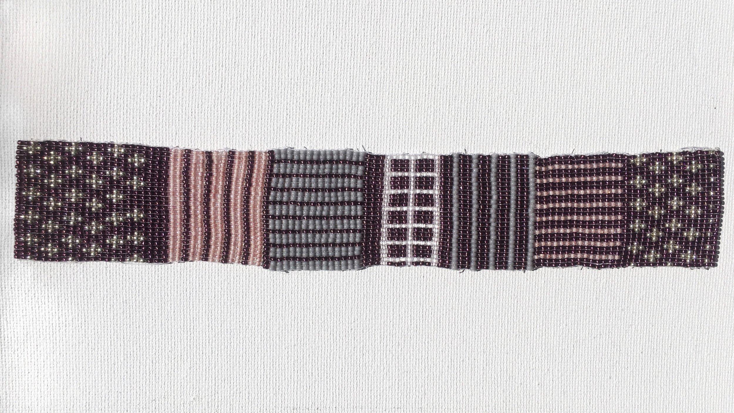 Bead Weaving on Canvas
