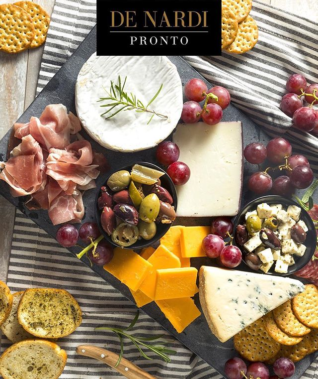 In France, serving a charcuterie board is quite common—not only when entertaining but even on weeknights for a light meal, no cooking required. This week's #DeNardiPronto selections are fundamental to French Charcuterie. To create the board you will need an assortment of cured meats and cheeses from various regions of France. We suggest Jambon de Bayonne (French prosciutto), Double Cream Brie, Saint Agur, Cantal and Comté. Add a mix of olives and cornichons for a briny element, some grapes, baguette and water crackers. Open a bottle of wine, break into some fresh bread, and dig in! • •  #wpgfood #wpgfoodlovers #wpgfoodie #tourismwinnipeg #exploreeverything #winnipeg #italianfood #shoplocal  #winnipegeats #winnipegfood #ywg #wpgnow #winnipegrestaurant #allthingswinnipeg #tastingwinnipeg #wpgnow #winnipegfoodie #instafood #foodstagram #foodphotography #localeats #winnipegphotography #winnipegbusiness #shoplocal #madeinmanitoba