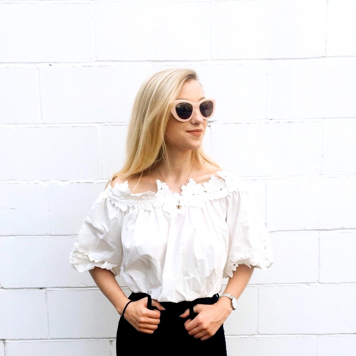 Sunglasses:  Rowley Eyewear , Top: Dressfo , Watch:  Mockberg