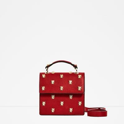 ZARA Red Bee Bag