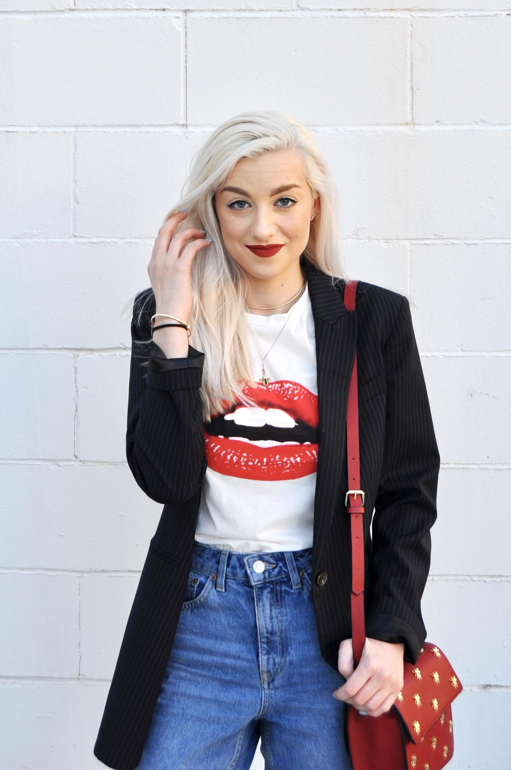 Top: Romwe, Blazer: Baukjen, Jeans: Topshop, Bag: Zara, Shoes: Style Encore (Old Navy)