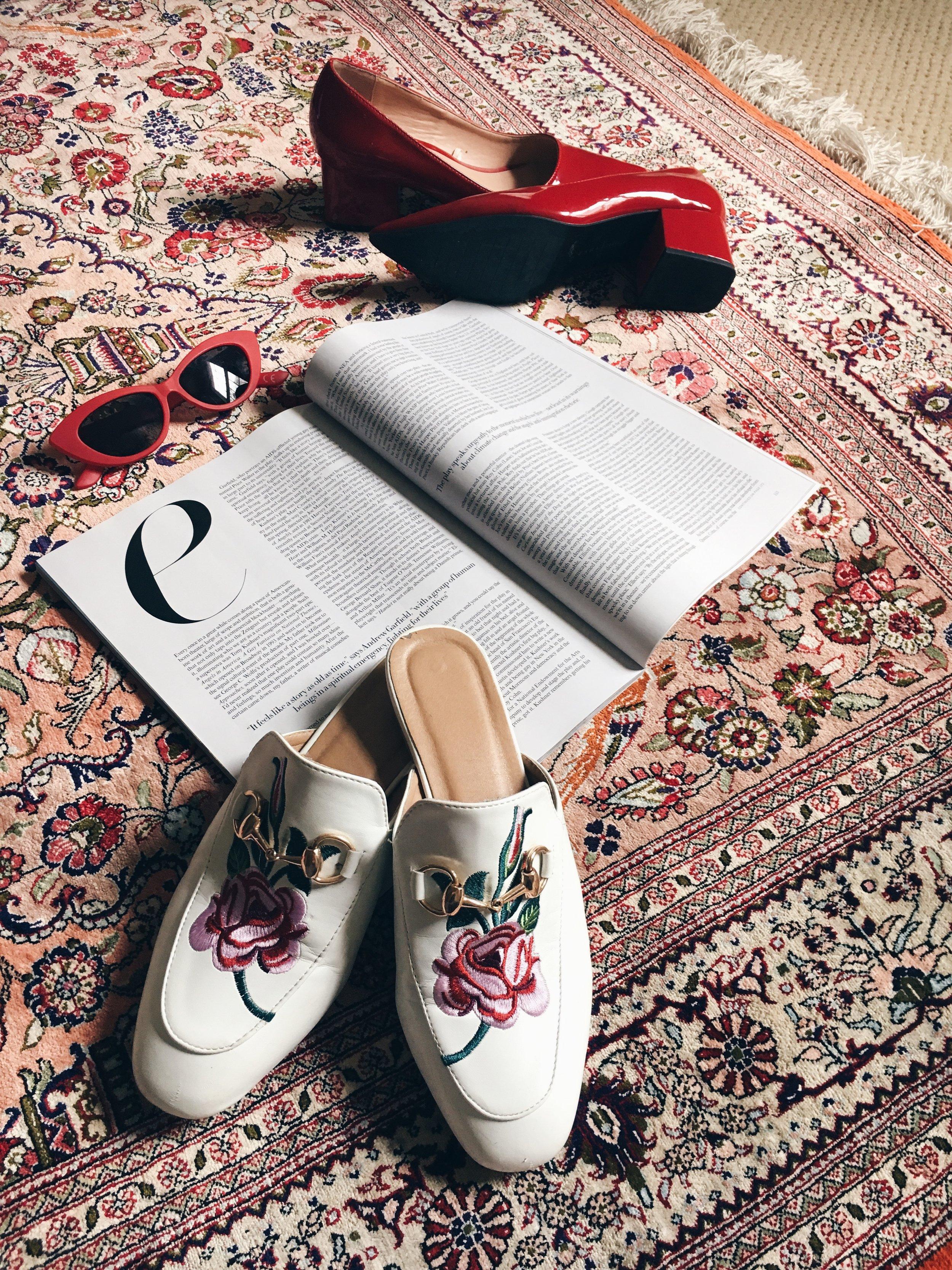 Loafer Mules: Ego Official, Heels: Zara, Sunglasses: ASOS