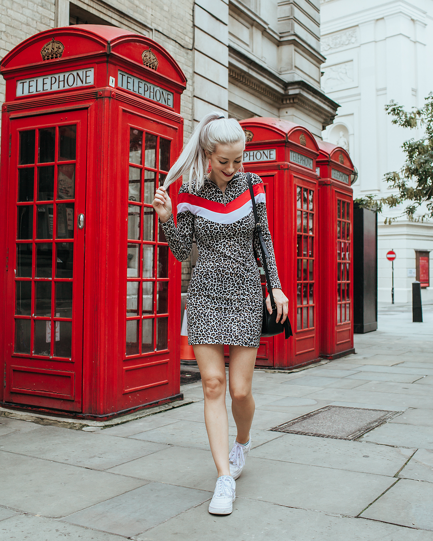 Outfit Details: Dress: Daisy London, Shoes: Nike, Bag: Gucci, Necklace: Urban Outfitters