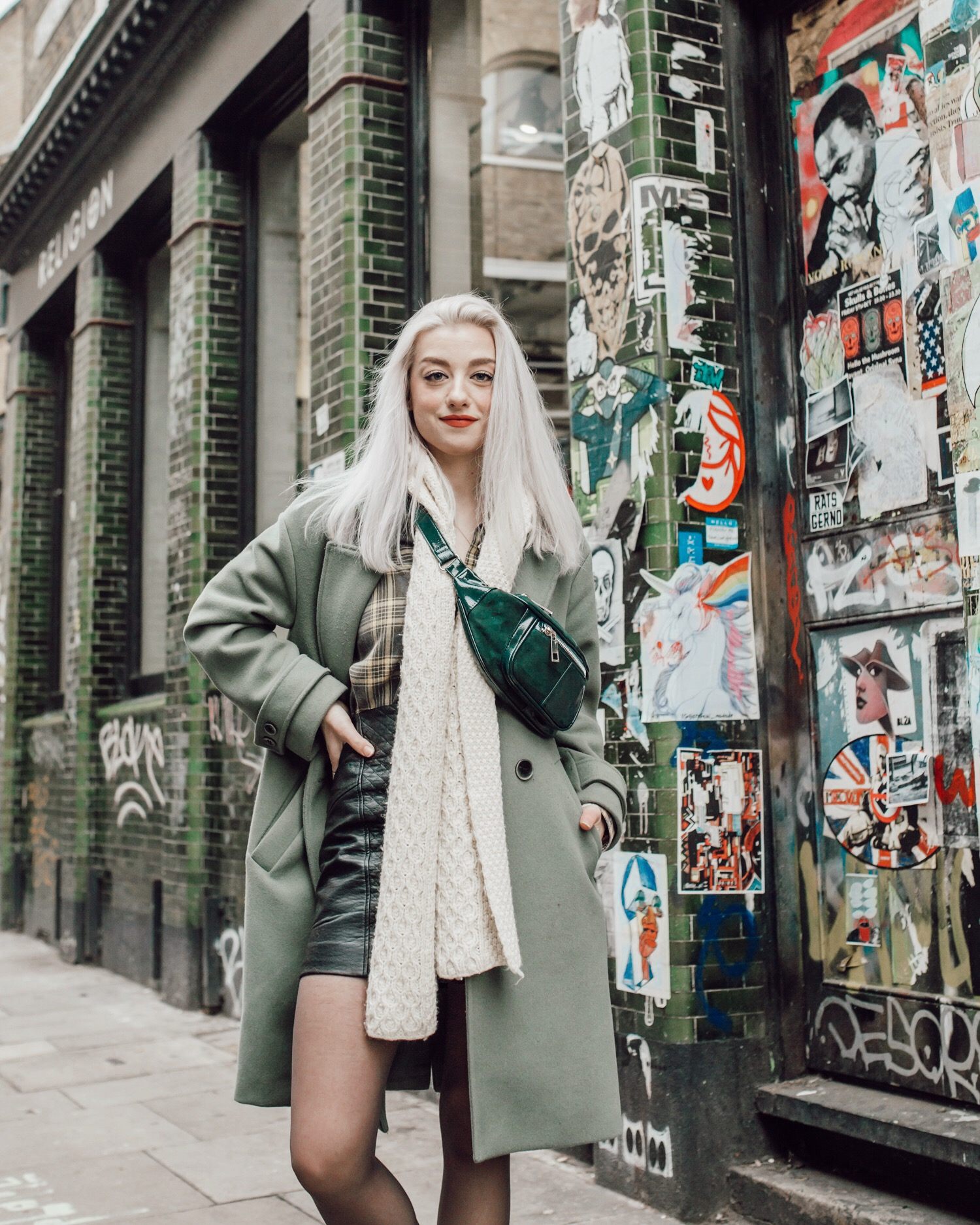 Put on my coolest outfit and struck my coolest post for the coolest location in London, Shoreditch.
