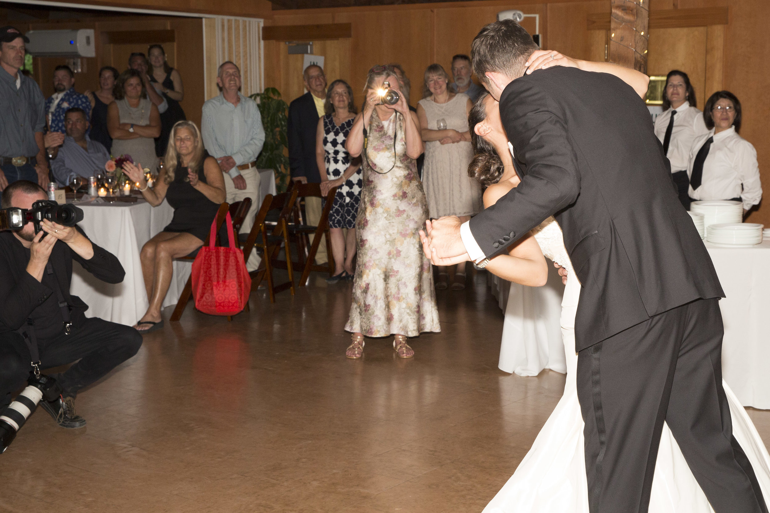 Wedding Photographer Ben Hider shooting the bride and grooms first dance in Westchester, New York