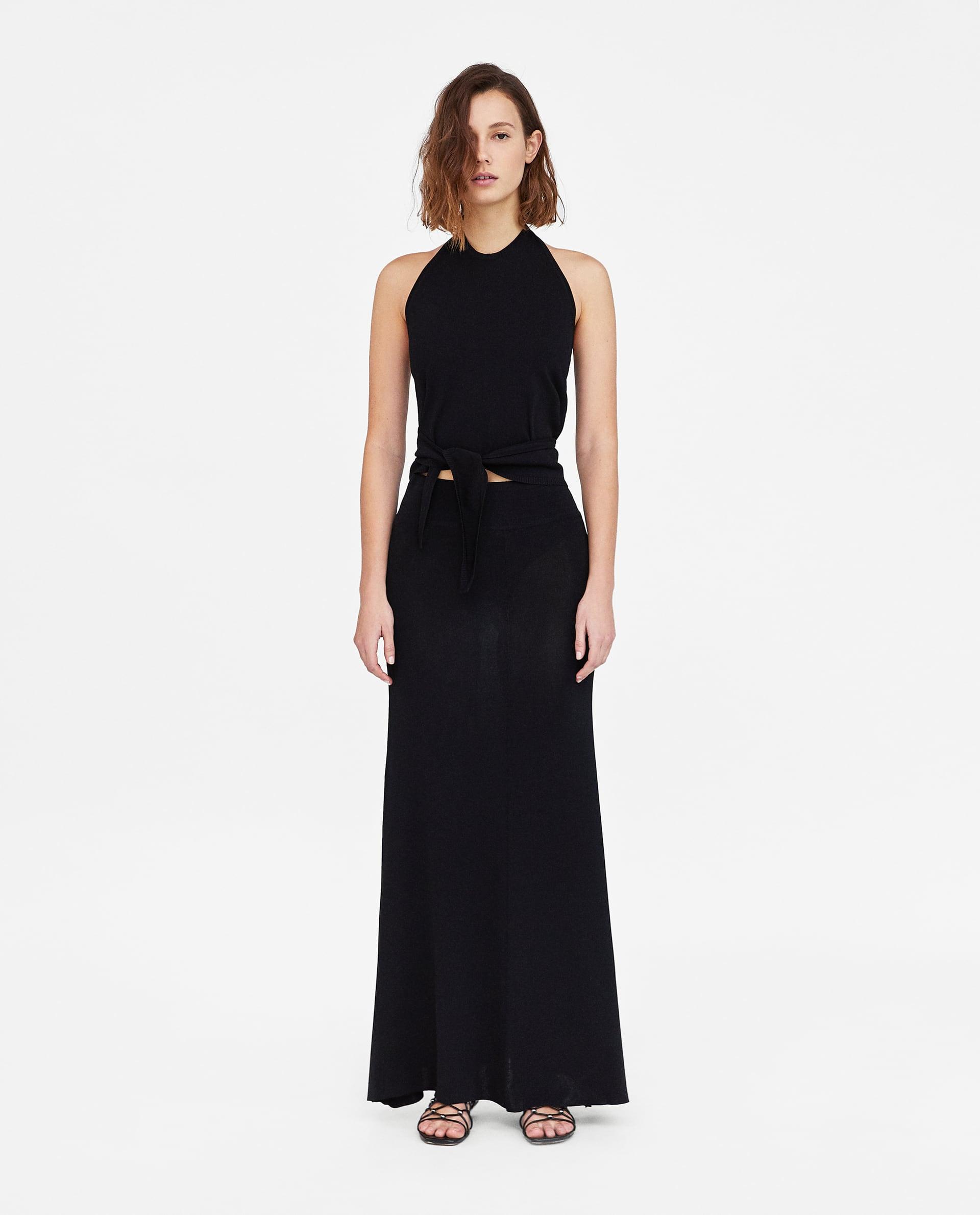 Minimal Halter Top and Skirt