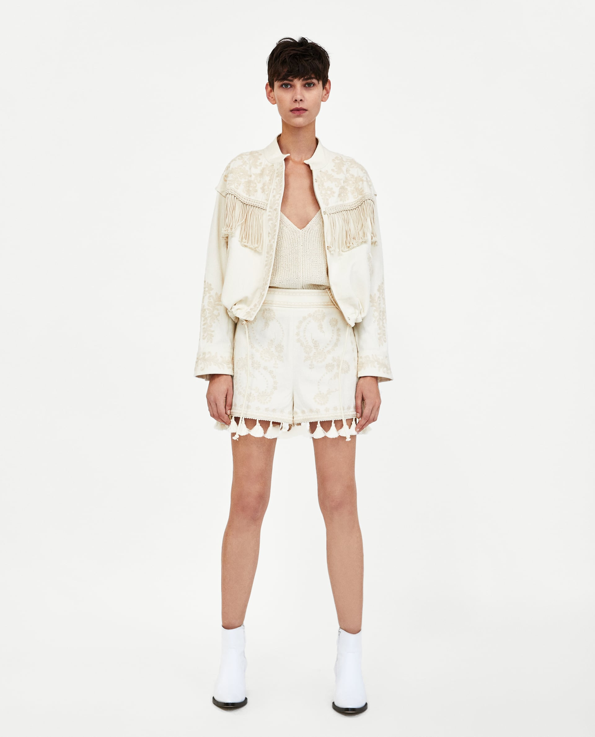 Embroidered Jacket and Shorts