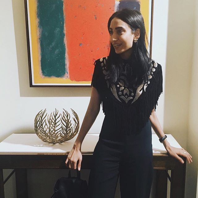 Wearing my favorite piece from the lovely @ameliabrown! This is her 3rd collection, and was inspired by her ties to the Middle East...so we obviously love it all!