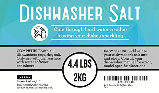 4 Lb Dishwasher Salt Water Softener Compatible With Bosch Miele Etc