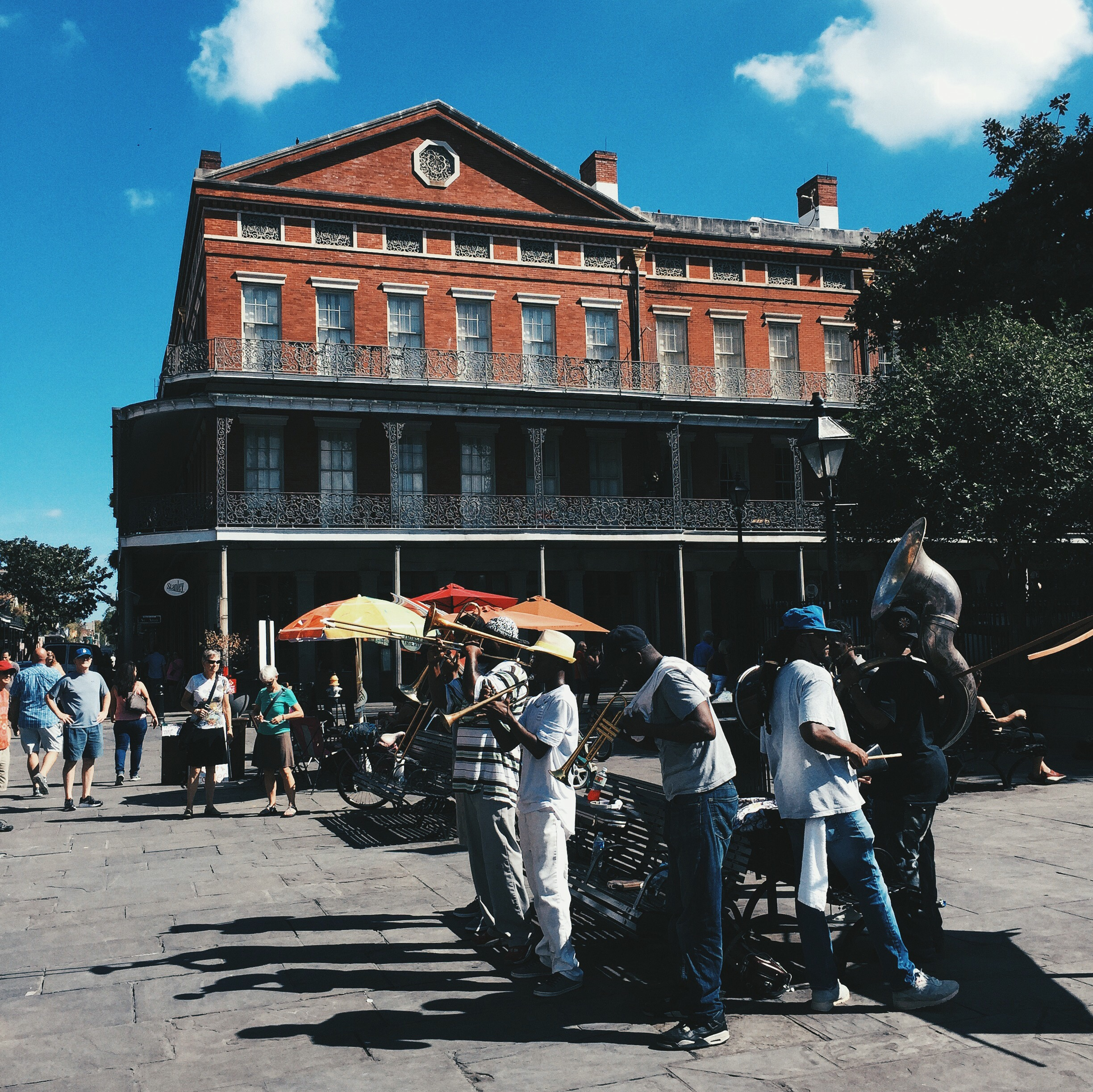 There would be random jazz bands on street corners throughout the French Quarter.