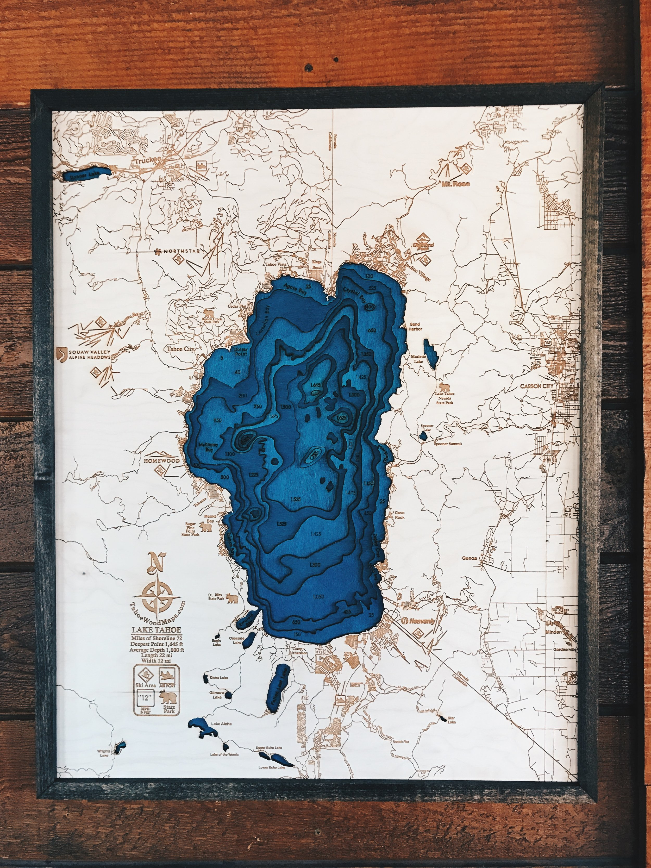 A cool Topographic map of the lake I found in one of the shops in the village