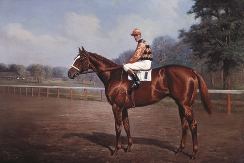 Sir Barton and Johnny Loftus in a painting by Franklin Voss. (Photo courtesy: National Museum of Racing and Hall of Fame).