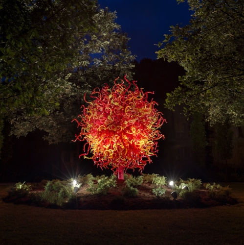 Maker's Mark recently unveiled its second installation from world-renowned artist Dale Chihuly. The exhibit continues through October 31 on the Marker's Mark campus in Loretto, KY. (Photo credit: Maker's Mark)