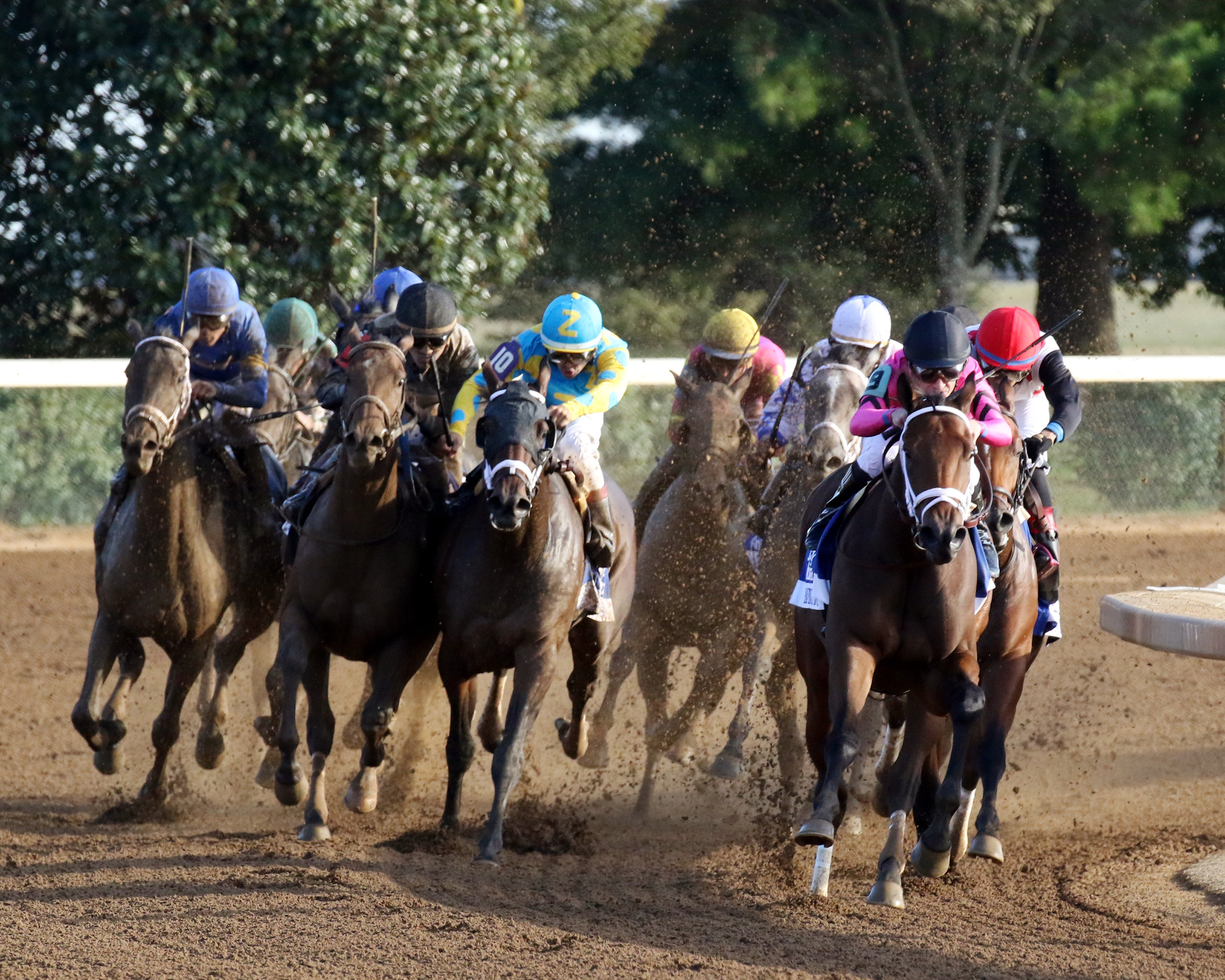 Keeneland's Fall Race Meet opened on Oct. 6 and runs through Oct. 28. The meeting includes many big races, including the Grade 1 Darley Alcibiades Stakes, won by Heavenly Love (far right). (Keeneland Photo)