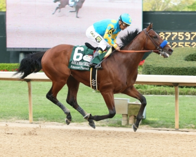 Oaklawn Park will unveil a life-size statue of Triple Crown winner American Pharoah at a public ceremony at 11 a.m. Thursday at the track. Photo: Oaklawn Park