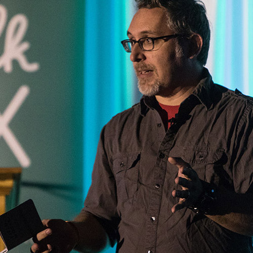 JD MCing Talk UX 2016, the international Ladies that UX conference,