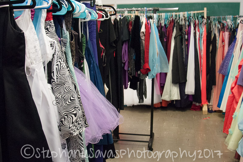 Hundreds of dresses were donated to the charity.