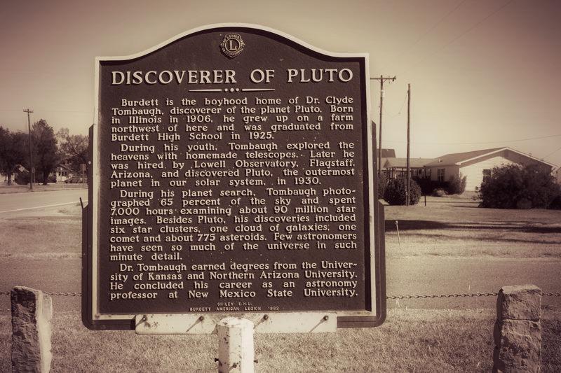 K-156, west edge of Burdett      Learn More at Kansas Historical Society!