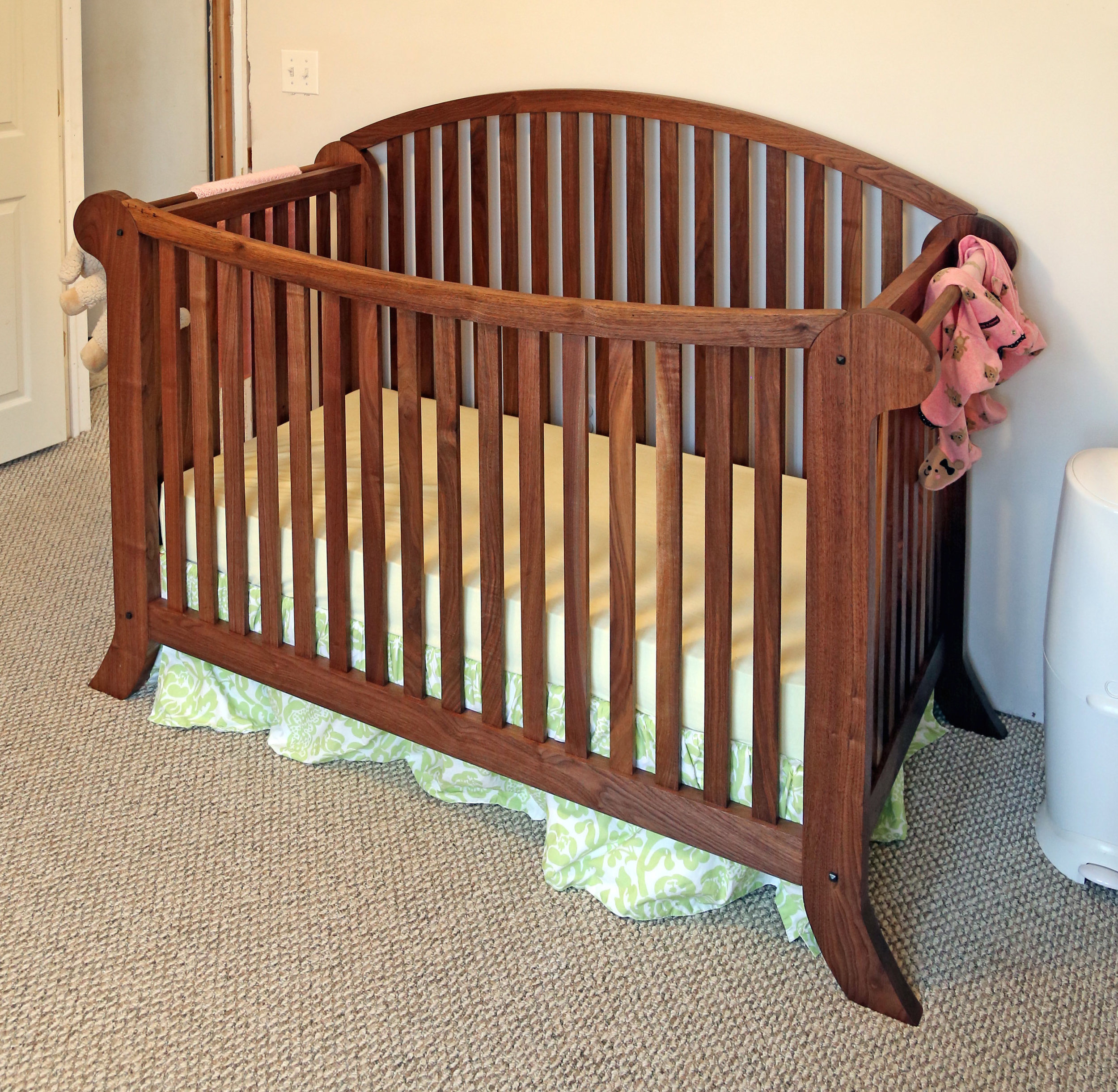 Another shot of the finished crib