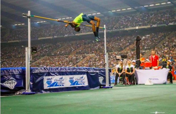 Figure 1: Mutaz Essa Barshim illustrating his wondrous form whilst setting his Personal Best of 2.43m. Look at that clearance!