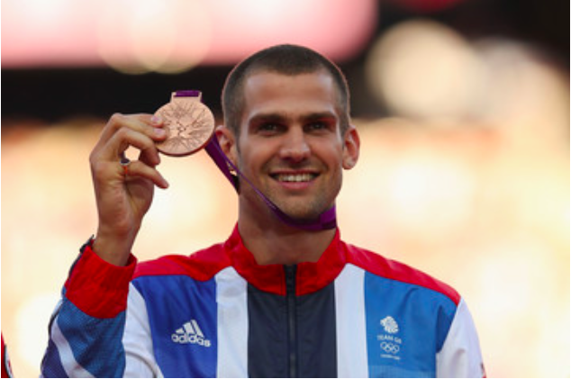 Figure 2: Robbie Grabarz on the podium of London 2012, collecting his bronze medal. After years of injury troubles, let's have more of this later in the year, eh?