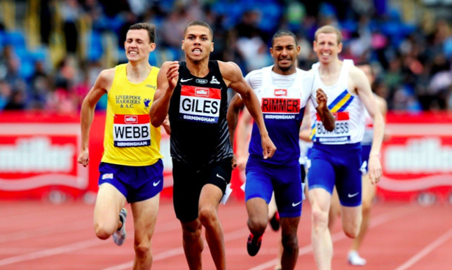 Figure 4: Michael Rimmer taking a severe beating in the British 800m Championships earlier this year. He was fortunate that selectors decided to give him a shot despite a very poor performance in a race he was expected to win.