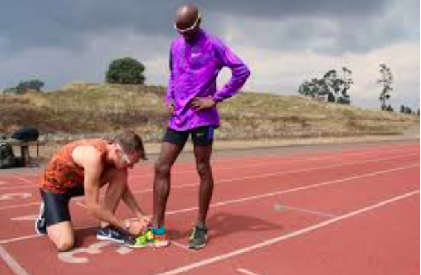 Figure 6: Mo Farah and Charlie Grice training hard in Kenya. All work and no play, clearly.
