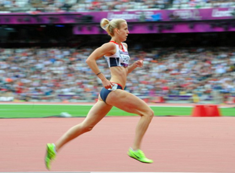 Figure 8: Lynsey Sharp during competition at London 2012. Will she be able to compete with the pace and power of the red-hot favourite in Rio?
