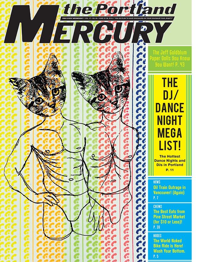 Portland Mercury cover ,June 22, 2016 Read interview here:  PORTLAND MERCURY