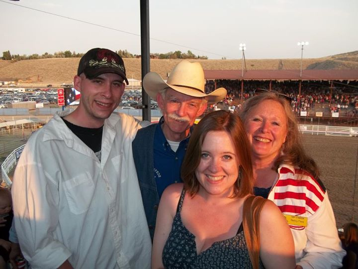 Paul Fees, 2016 Candidate for the Wyoming Legislature, and his family at the Cody Stampede Rodeo.