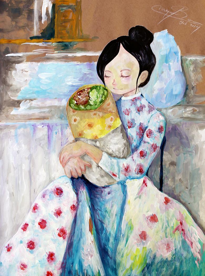 MOTHER AND BURRITO - A SELF PORTRAIT
