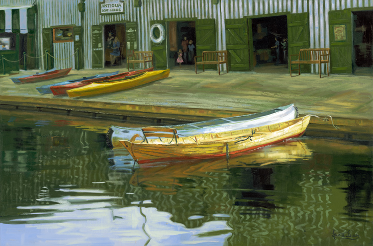 REFLECTIONS - BOAT SHEDS