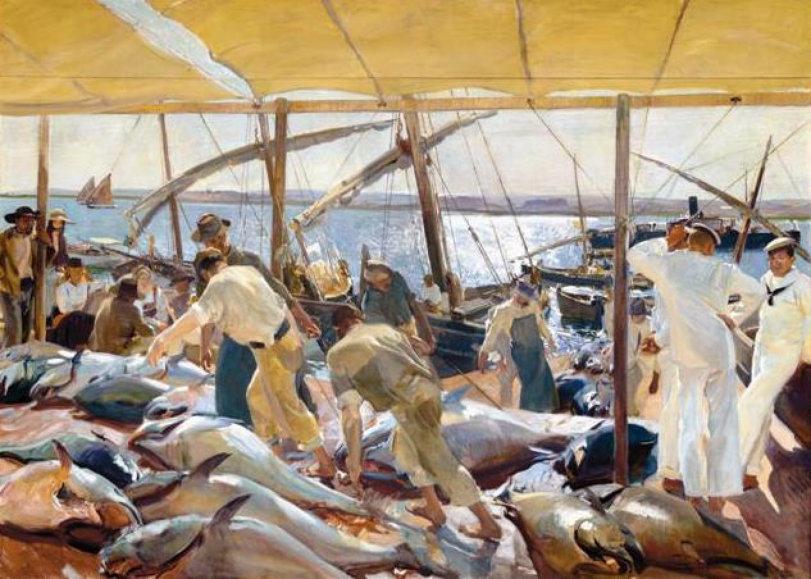 The Tuna Catch - by Joaquin Sorolla