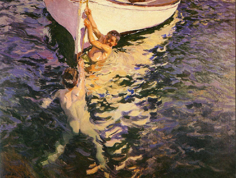The White Boat - by Sorolla