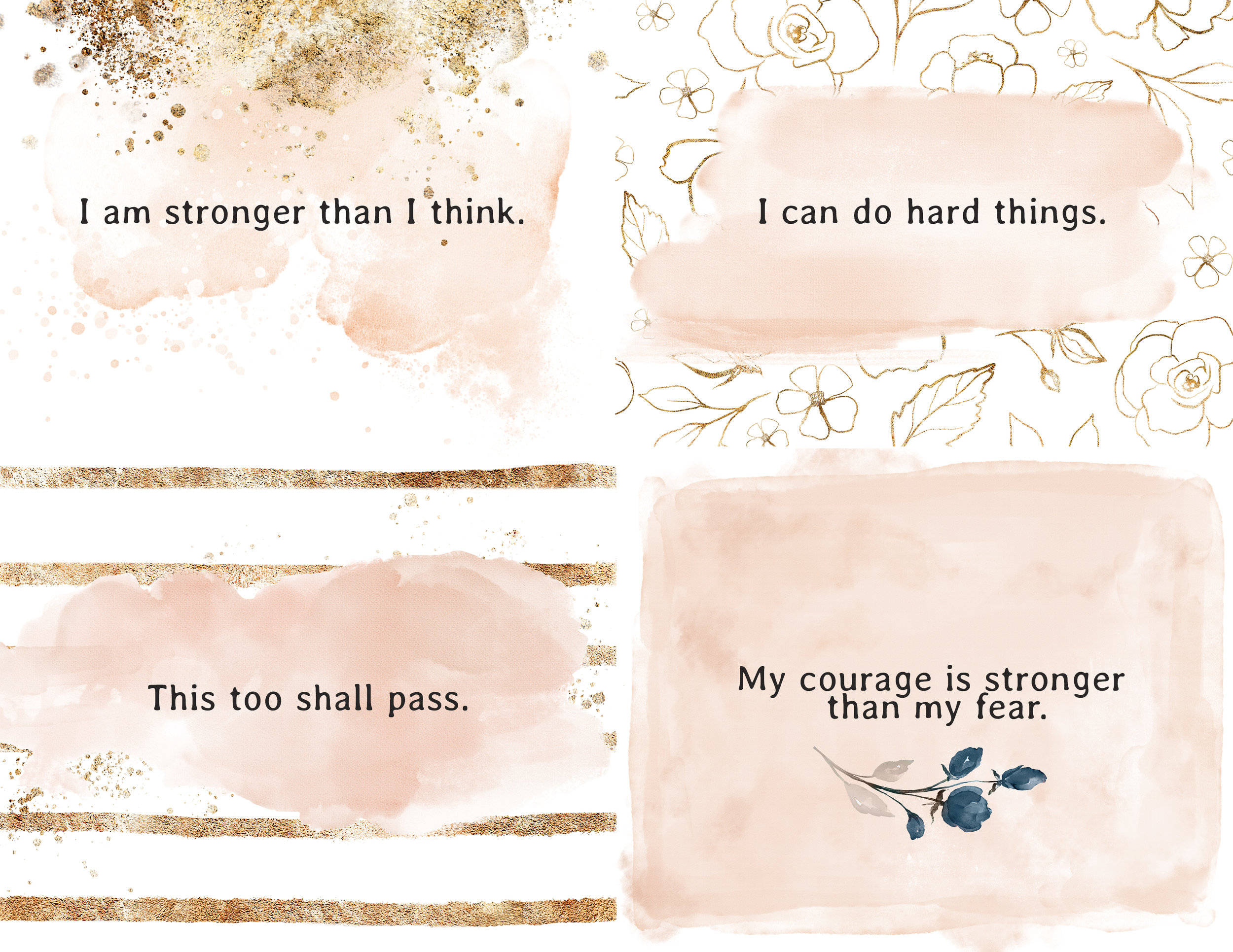 Affirmations for labor and childbirth, created by Brittney Hogue Birth Photographer of Central IL