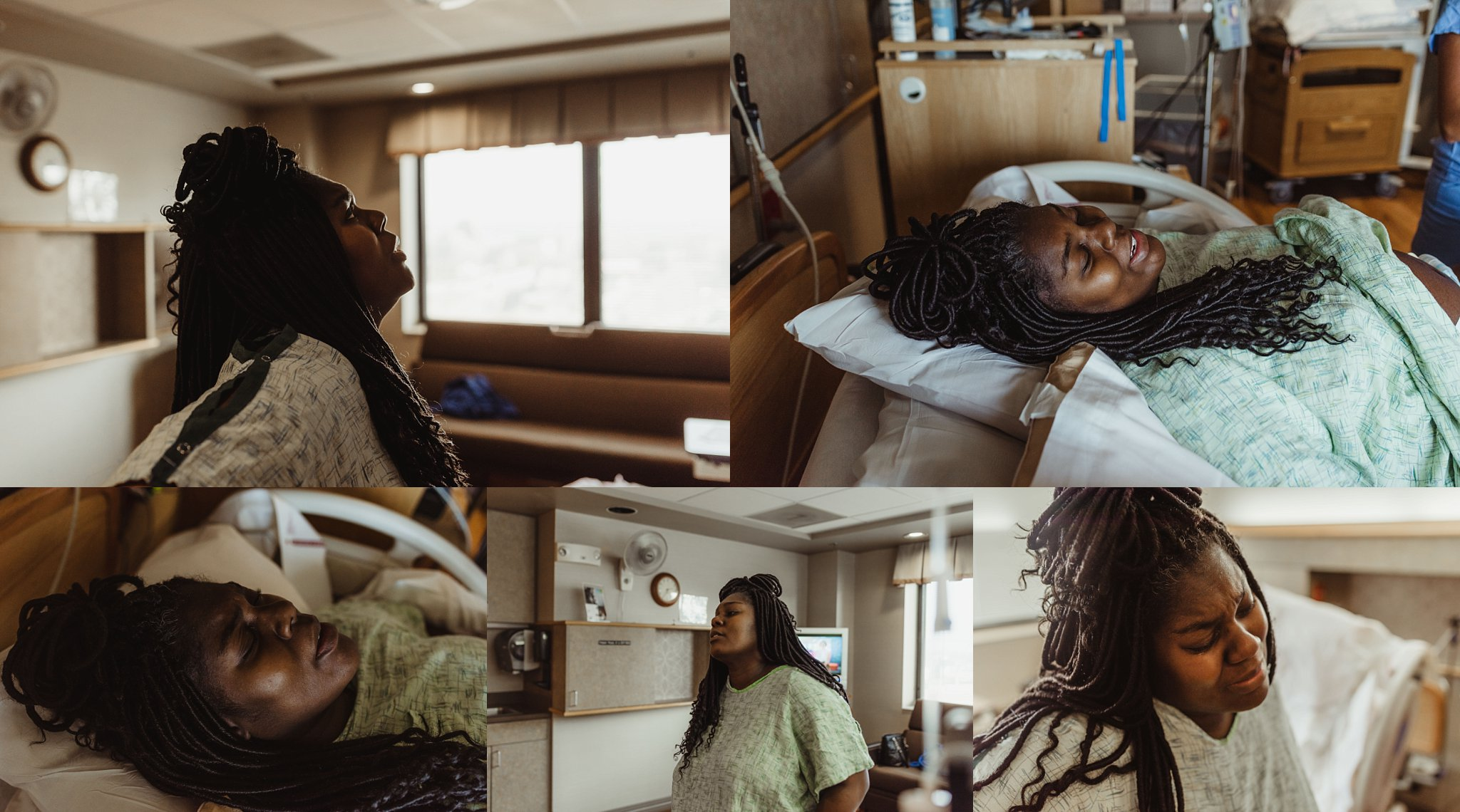 Mother labors through hard contractions at UnityPoint Health Peoria.